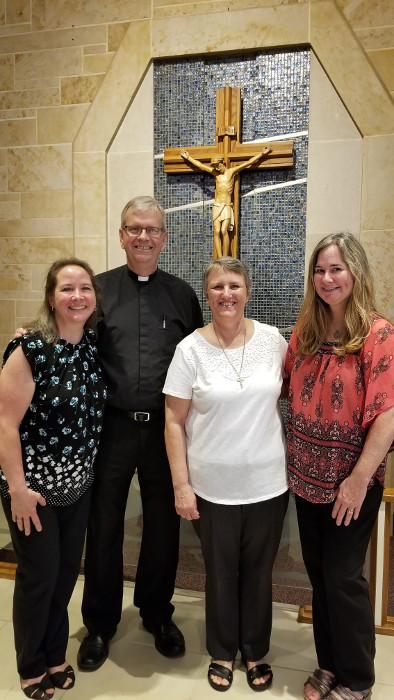 20190707 Holy Spirit.Lisa.Msgr.Paul.Deb.Debbie Barras