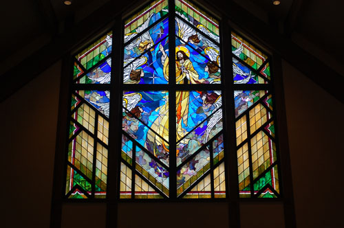 Beautiful window at St. Alphonsus.