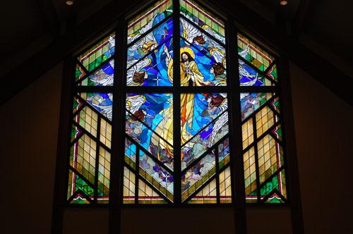 Beautiful window at St. Alphonsus.